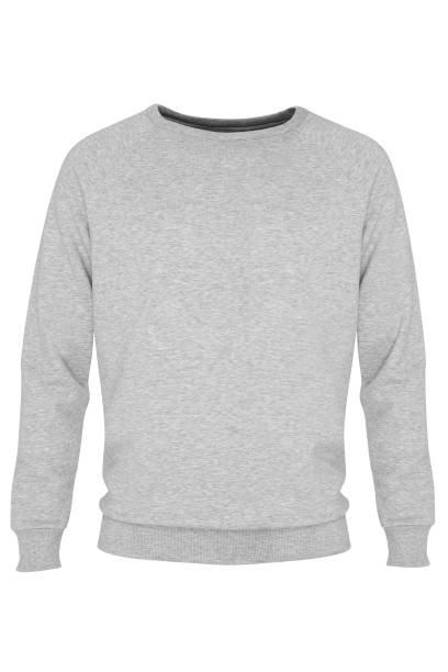 grey long sleeve t-shirt - sweatshirt stock photos and pictures