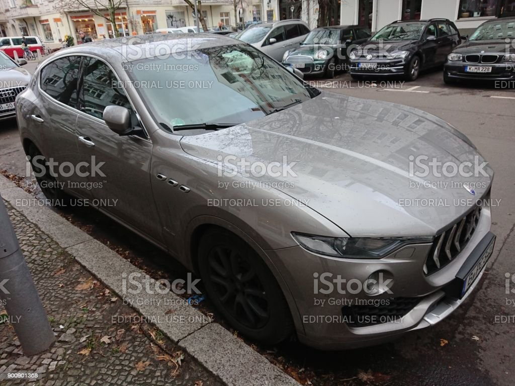 Grey Maserati Car With Trident Logo Stock Photo More Pictures Of