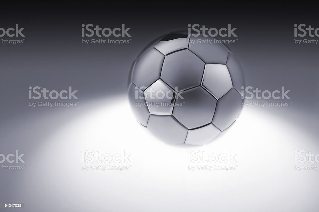 Grey metal soccer ball royalty-free stock photo