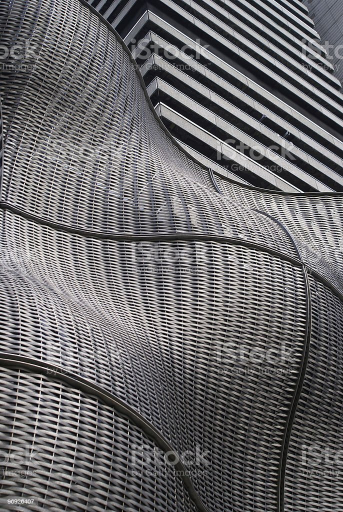 Grey modern building royalty-free stock photo