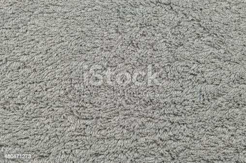 istock Grey natural plush terry cloth turkish bath beach towel, texture 480471273