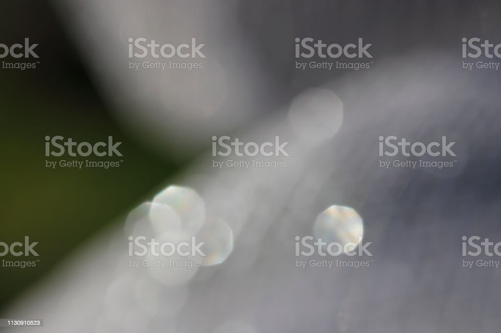 Grey out of focus bokeh background stock photo