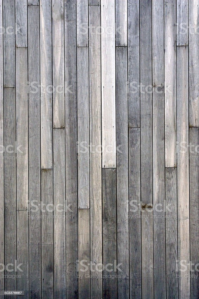 Grey Plank Wall stock photo