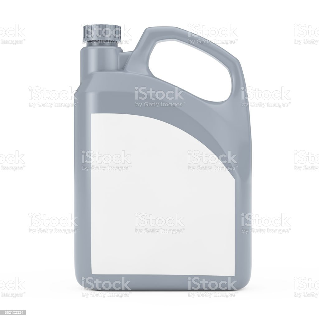 Grey Plastic Blank Container Canister with Blank Space for Yours Design. 3d Rendering stock photo