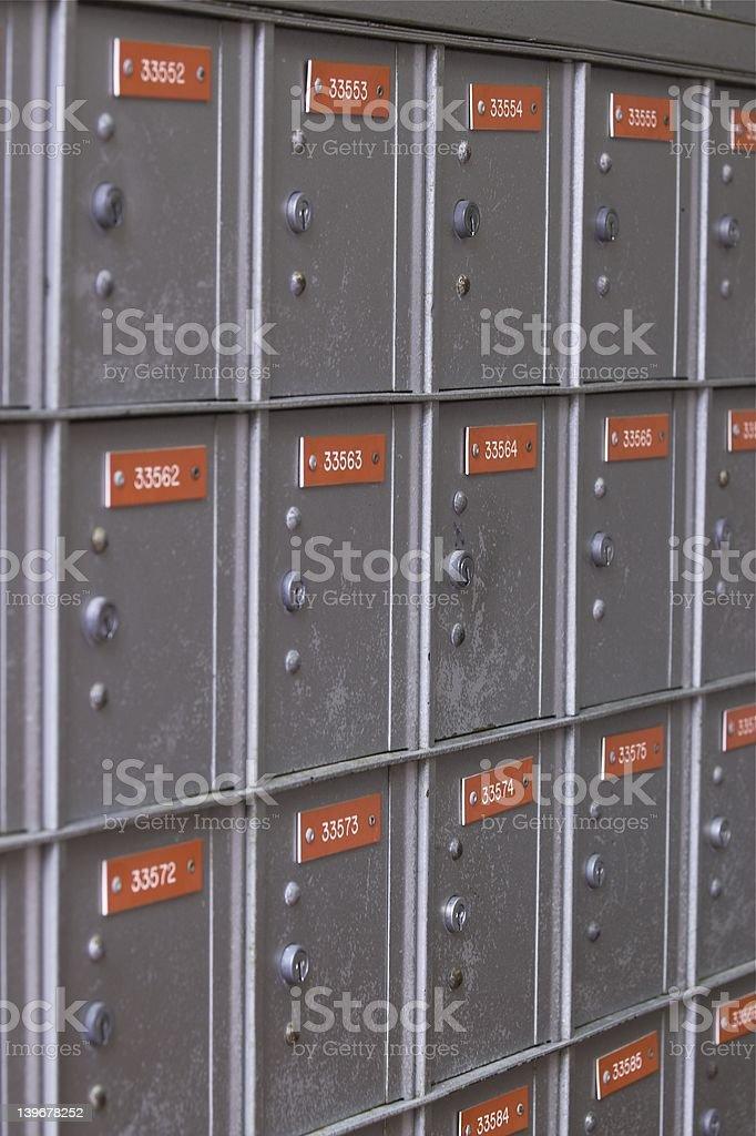 Grey Post Boxes 5 stock photo