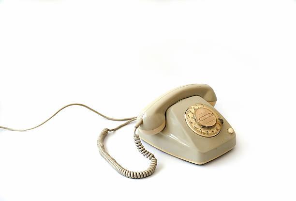 Grey retro Phone stock photo