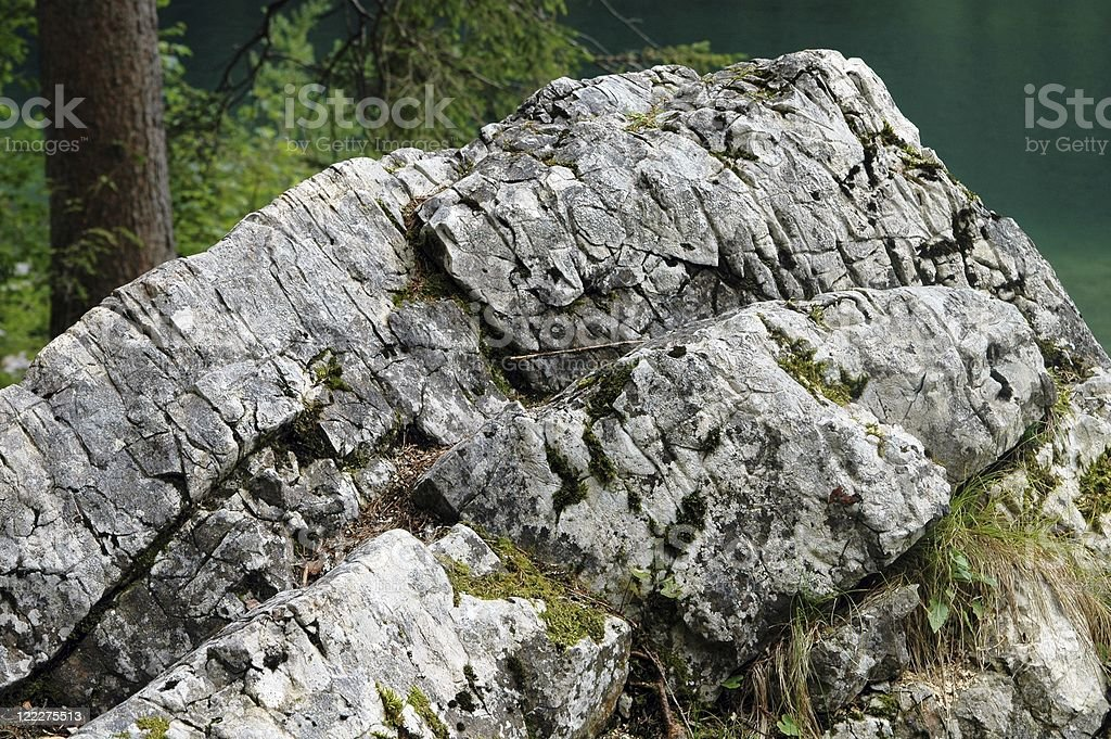 grey rock stock photo