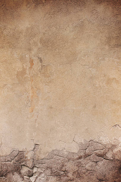 grau roman grunge wand textur, rom, italien - patina farbe stock-fotos und bilder