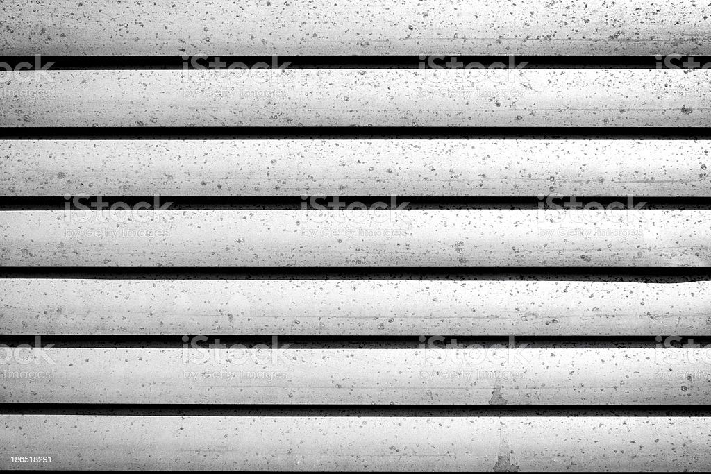 grey shutters over a shop doors royalty-free stock photo