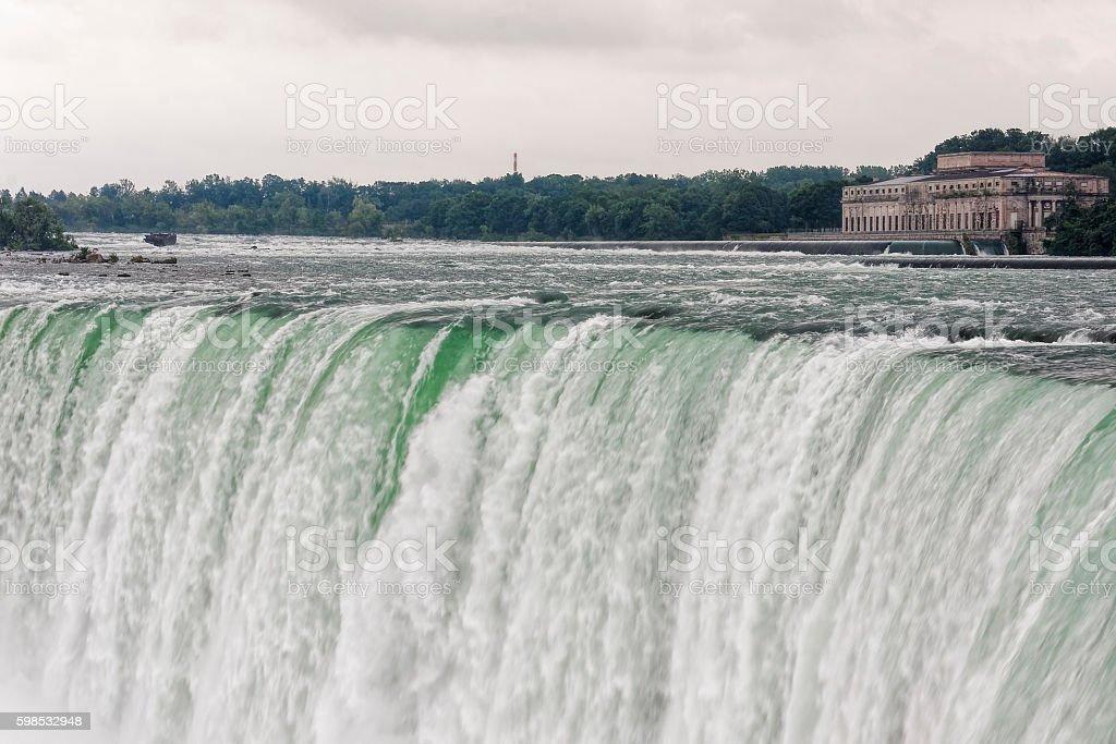 Grey skies over Niagara Falls photo libre de droits