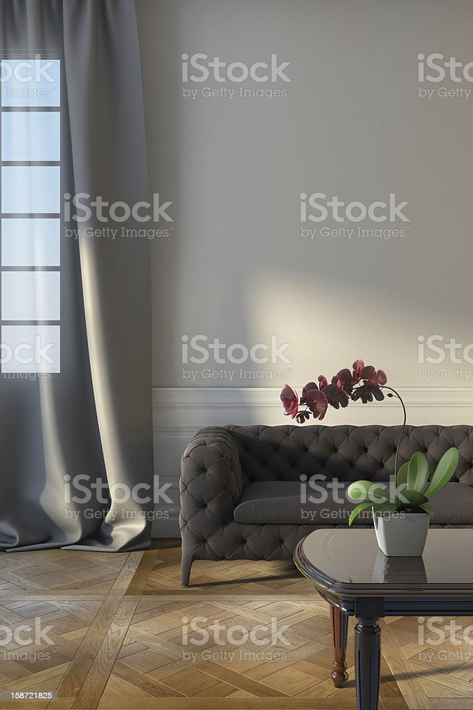 Grey Sofa Near Window Stock Photo More Pictures Of Apartment Istock