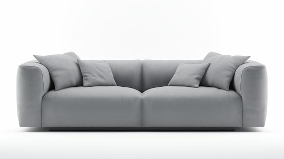 Cgi Grey Sofa isolated on white
