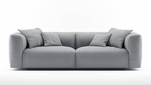 Sofá cinza - foto de acervo