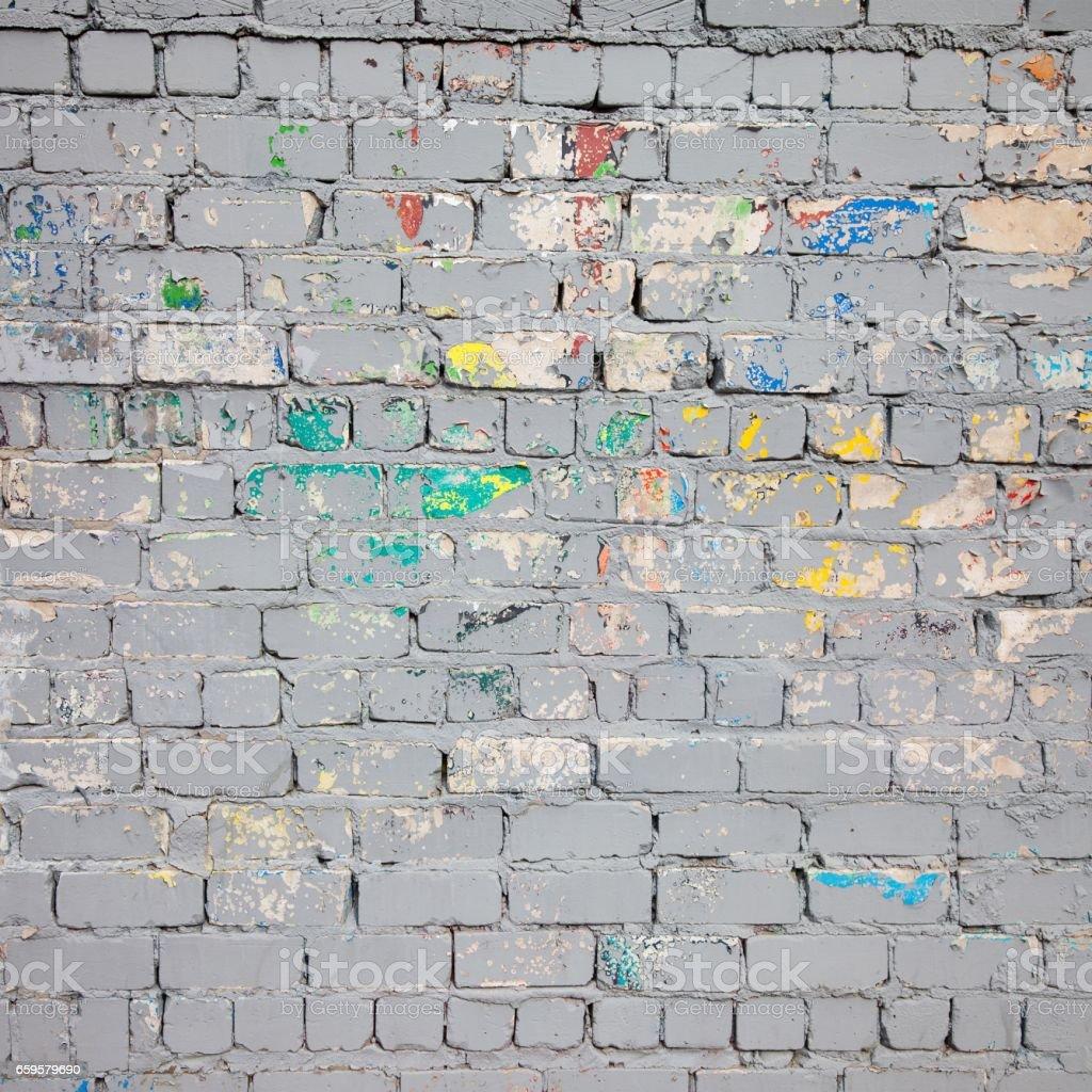 Grey Spring Brick Wall stock photo