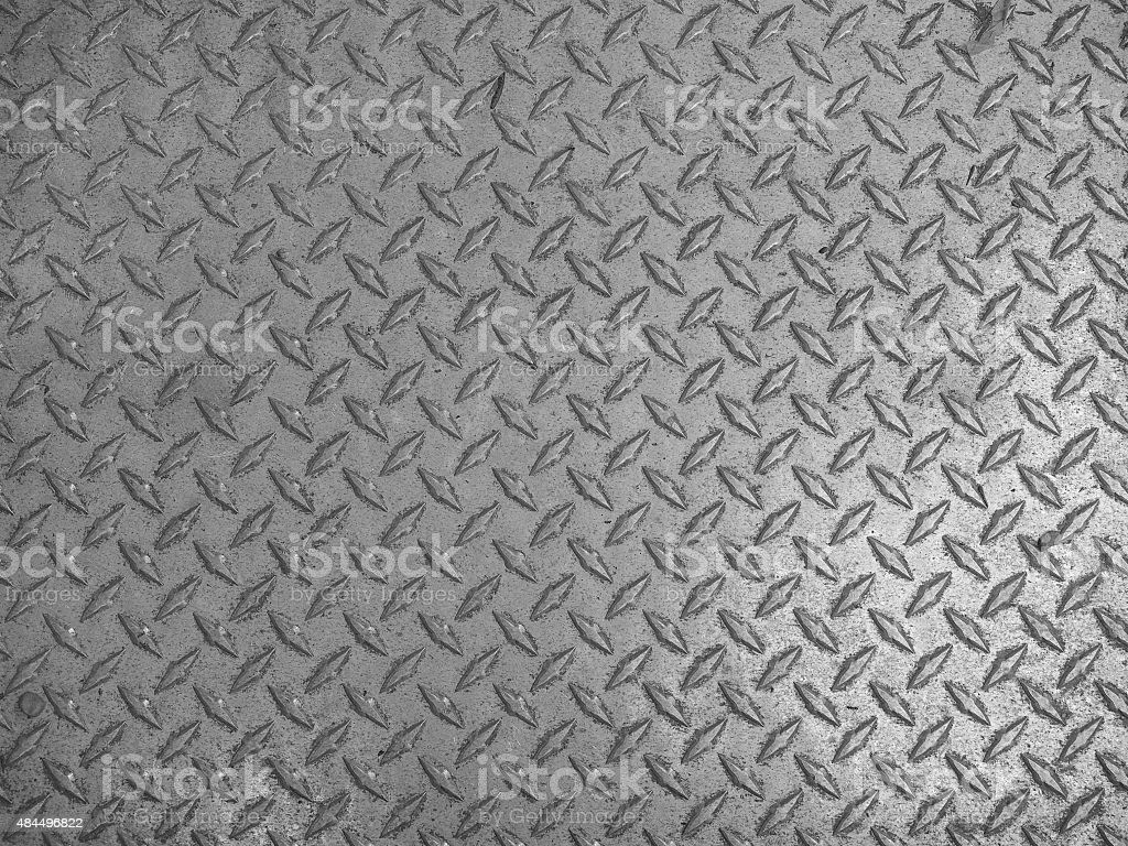 Grey steel diamond plate background stock photo