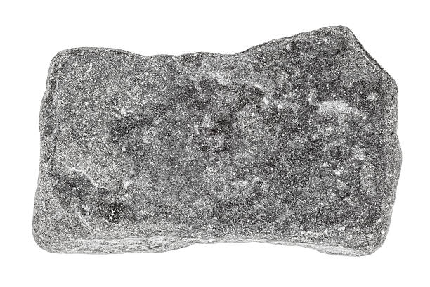 Grey stone isolated on white stock photo
