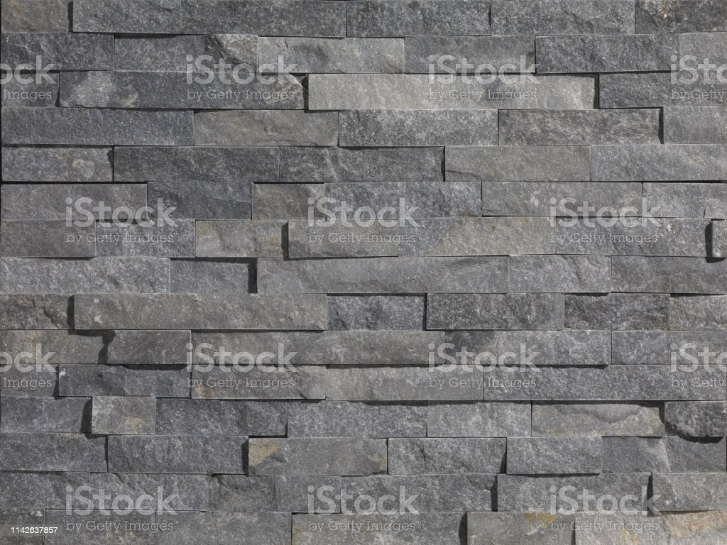 Grey Stone Wall Panels With Rough Surface Texture Background Grey Stone Tiles Stock Photo Download Image Now Istock