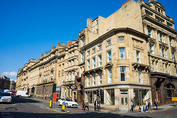 Grey Street - Newcastle Upon Tyne stock photo
