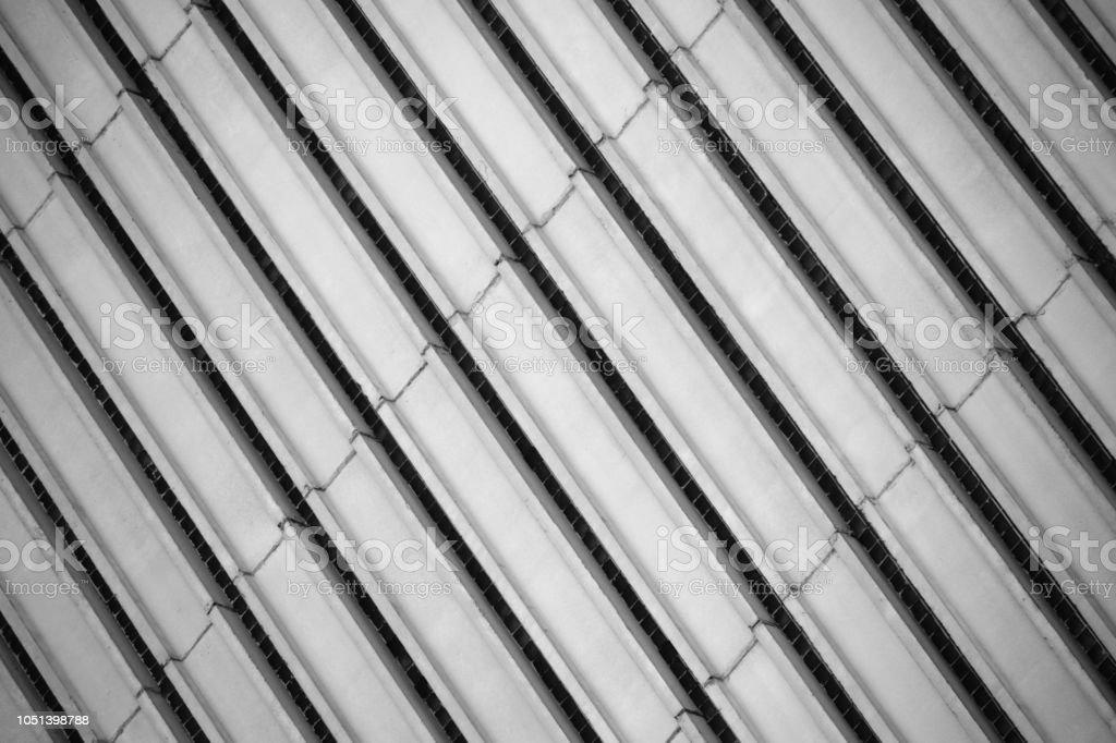 Graue Streifen Der Betonfassade Wand Muster Stockfoto Und Mehr
