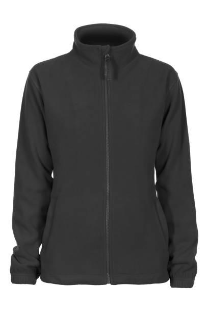 graues sweatshirt fleece für frau - fleecepullover stock-fotos und bilder
