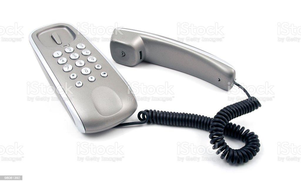 Grey telephone royalty-free stock photo