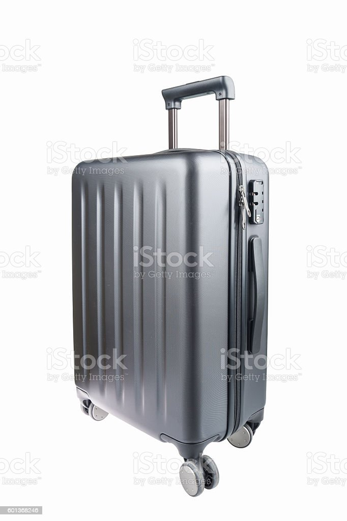 grey travel luggage isolated – Foto