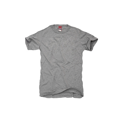 A Grey Tshirt On White Background Stock Photo - Download Image Now