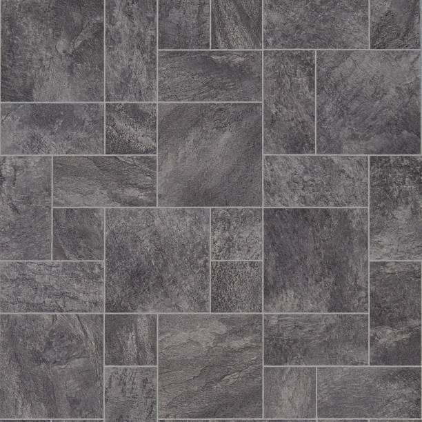 grey vinyl flooring texture - azulejo imagens e fotografias de stock
