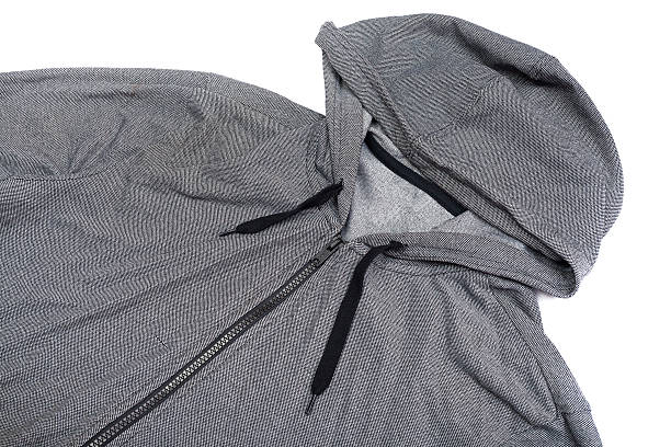 grau windjacke hoodie-jacke mit durchgehendem reißverschluss - zip hoodies stock-fotos und bilder