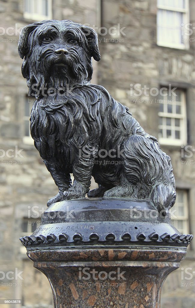 Greyfriars Bobby statue in Edinburgh, Scotland royalty-free stock photo