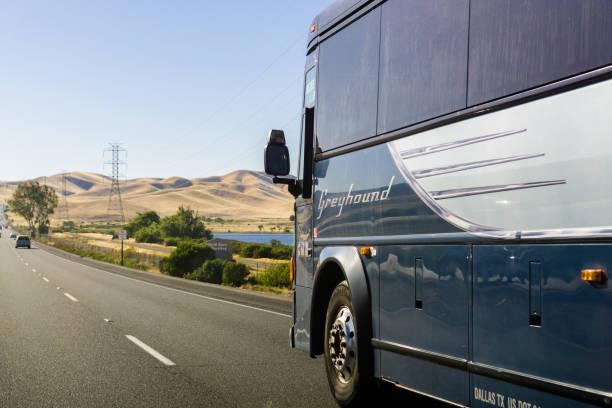 greyhound otobüs - sefer tarifesi stok fotoğraflar ve resimler