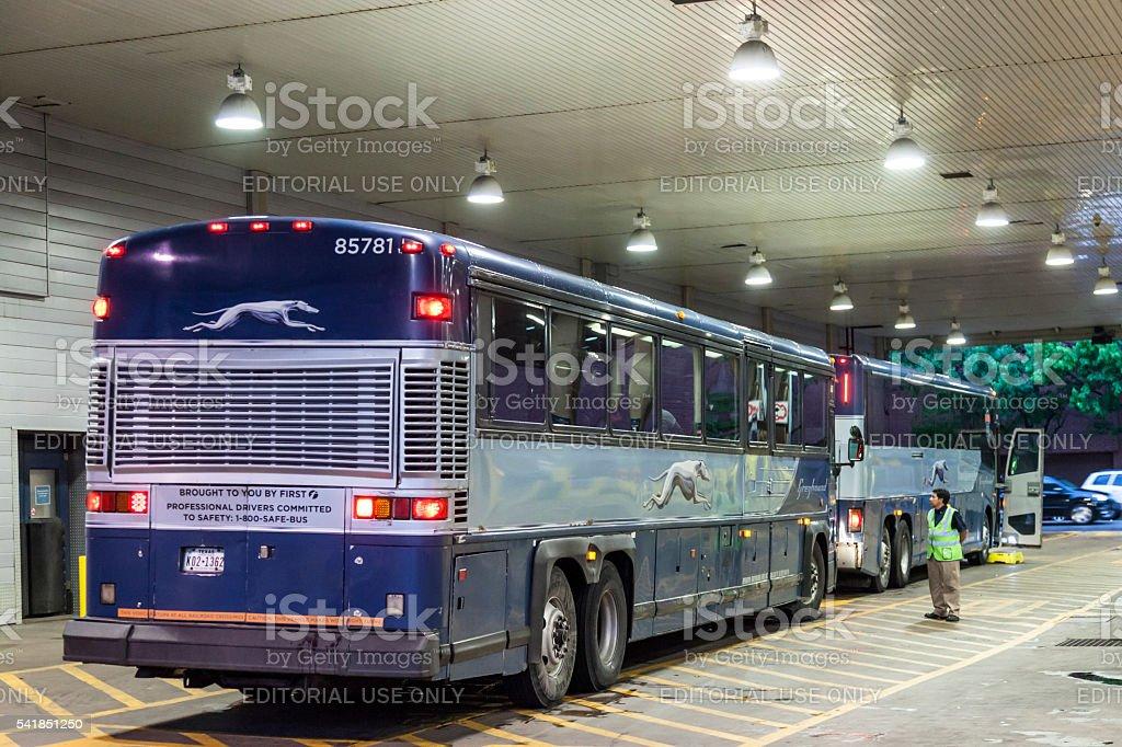 Greyhound bus terminal in Dallas, Texas stock photo