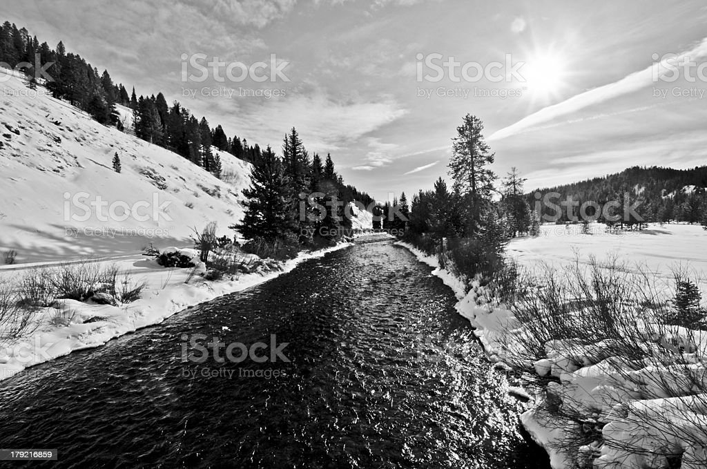 Greys River in Wyoming royalty-free stock photo