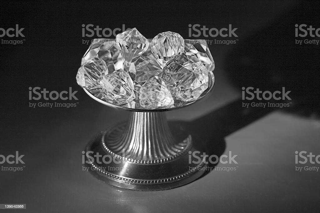 Greyscale Diamond Pedestal royalty-free stock photo
