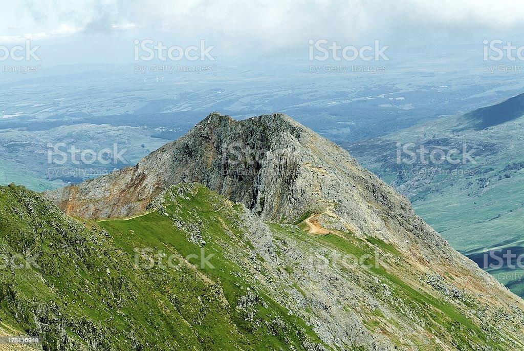 Grib Goch von oben des Snowdonia – Foto
