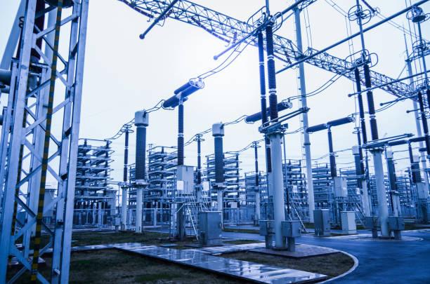 grid engineering - rete elettrica foto e immagini stock