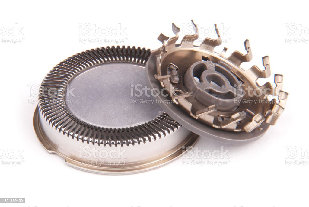 Grid new modern electric shaver stock photo
