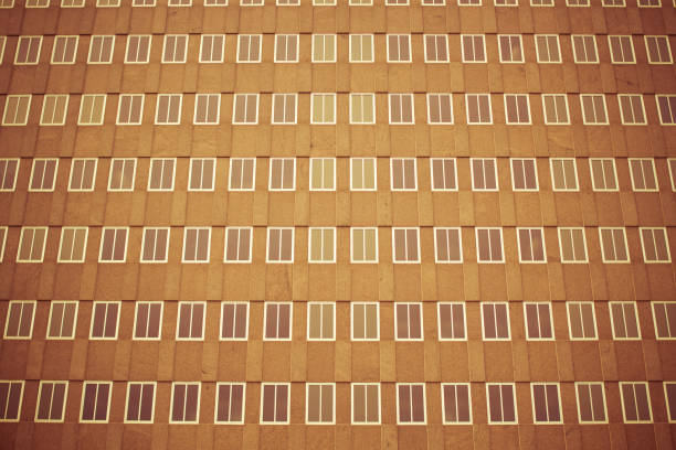 Grid of Building Windows stock photo