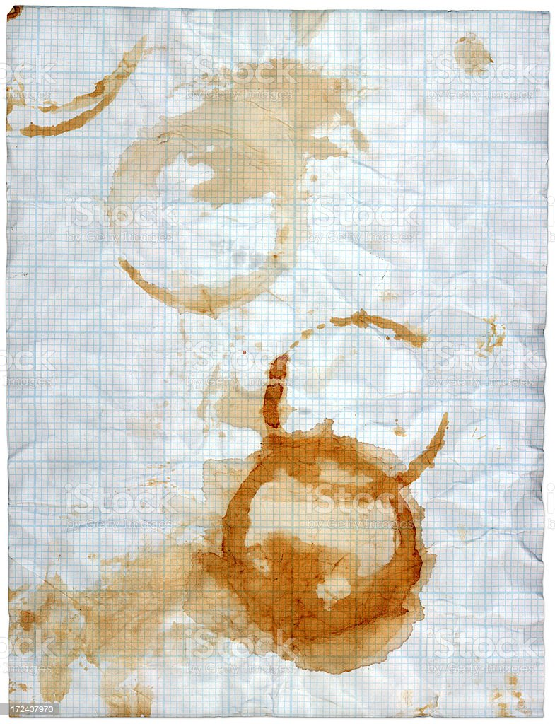 grid paper stains royalty-free stock photo