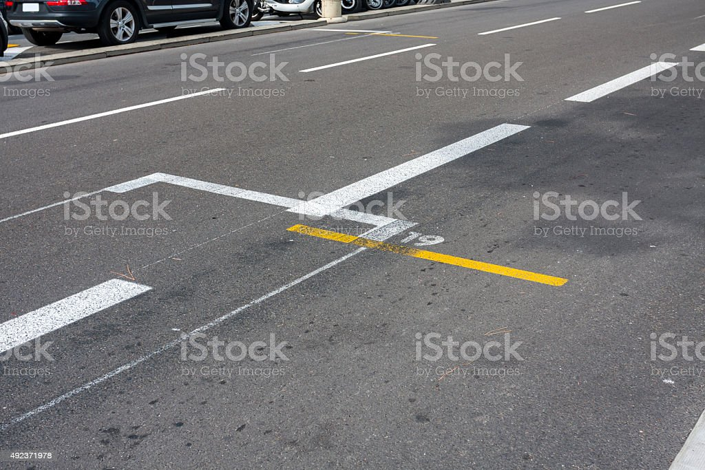 Grid Starting Place stock photo
