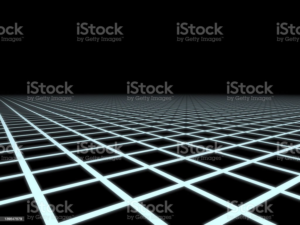 Grid to Infinity royalty-free stock photo