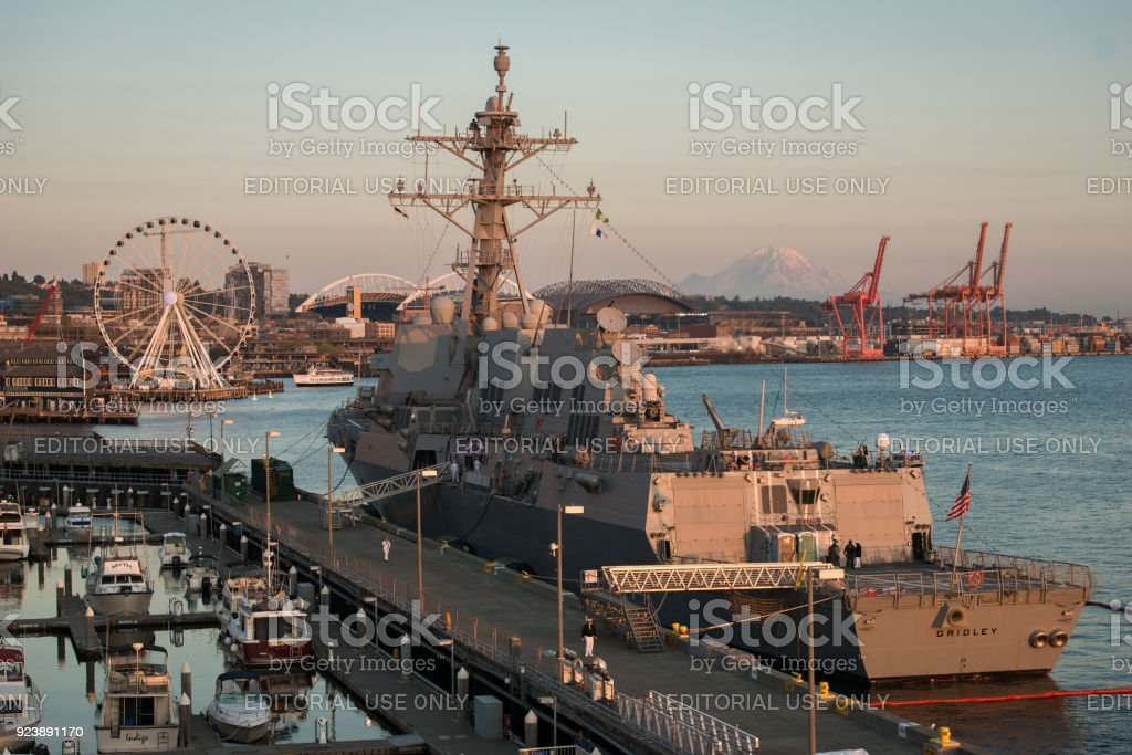USS Gridley stock photo