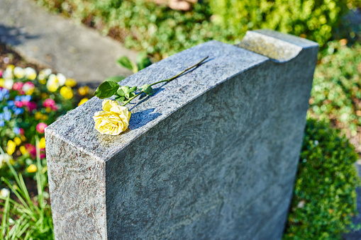 grief at on cemetery
