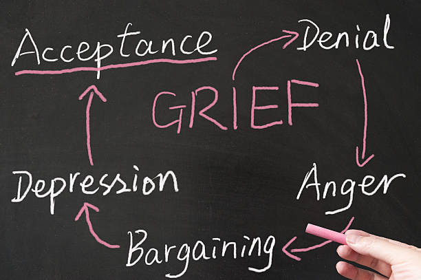 Grief cycle stock photo