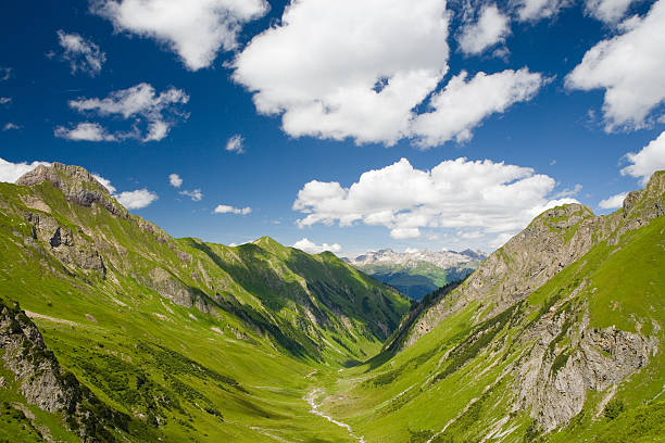 griesltal - european alps, tirol in austria stock photo