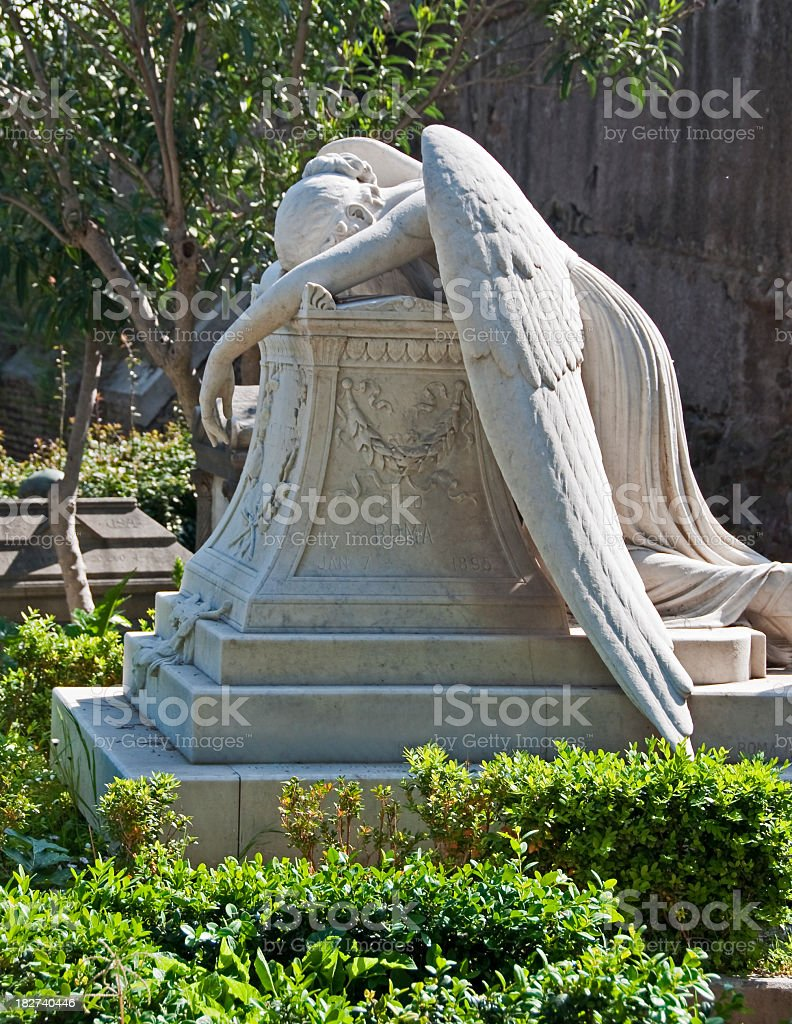 Grieving Angel stock photo