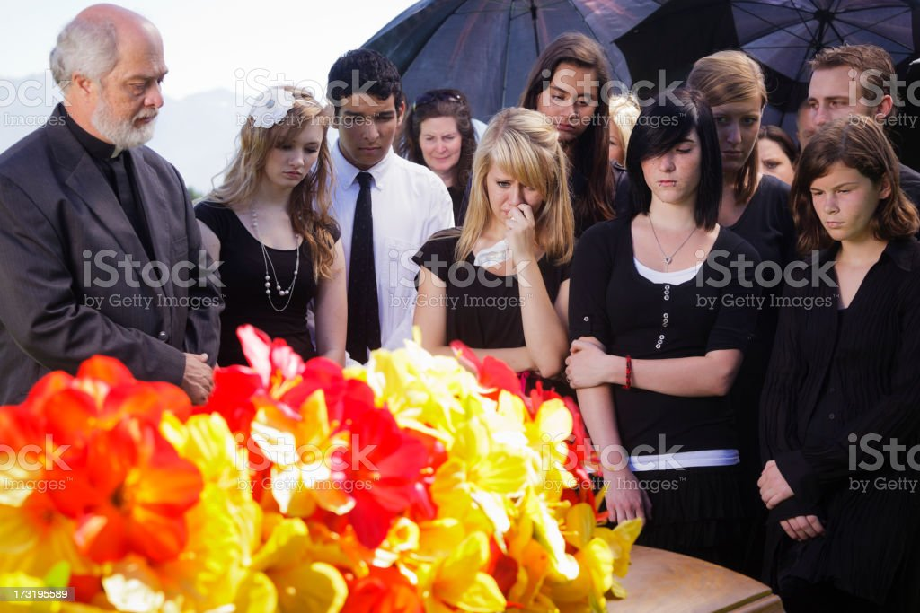 Grieving Teenagers stock photo