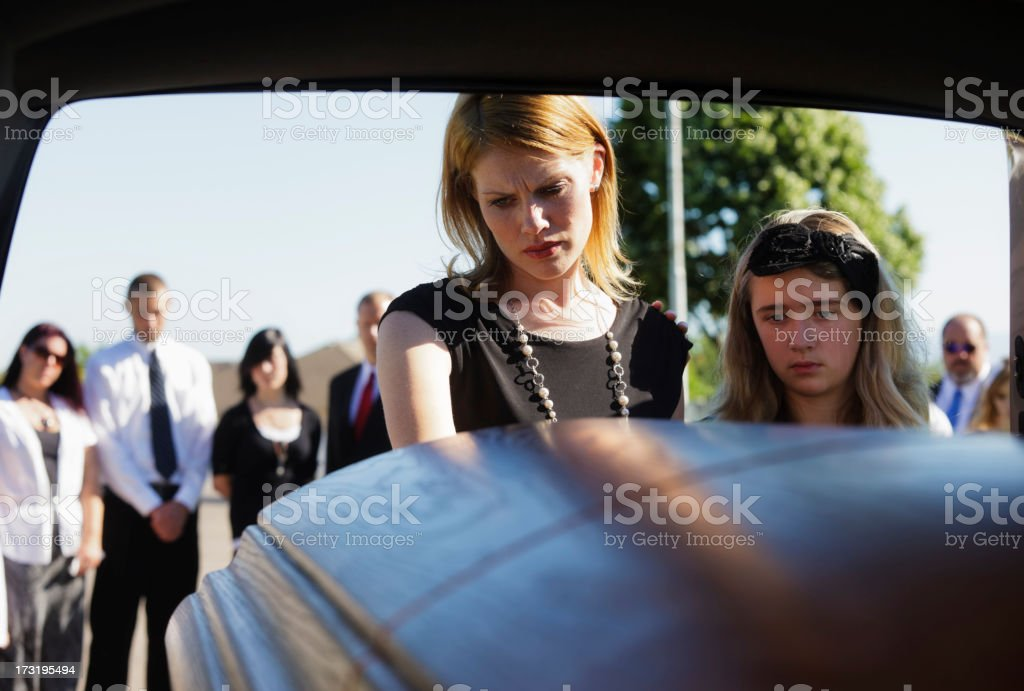 Grieving Widow stock photo