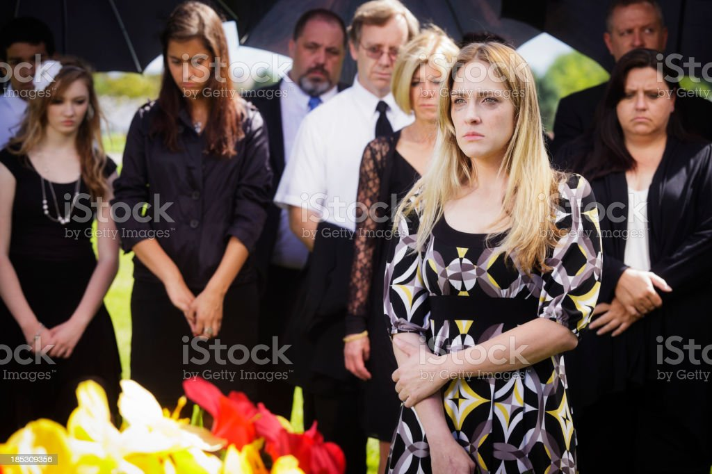 Grieving Young Woman stock photo