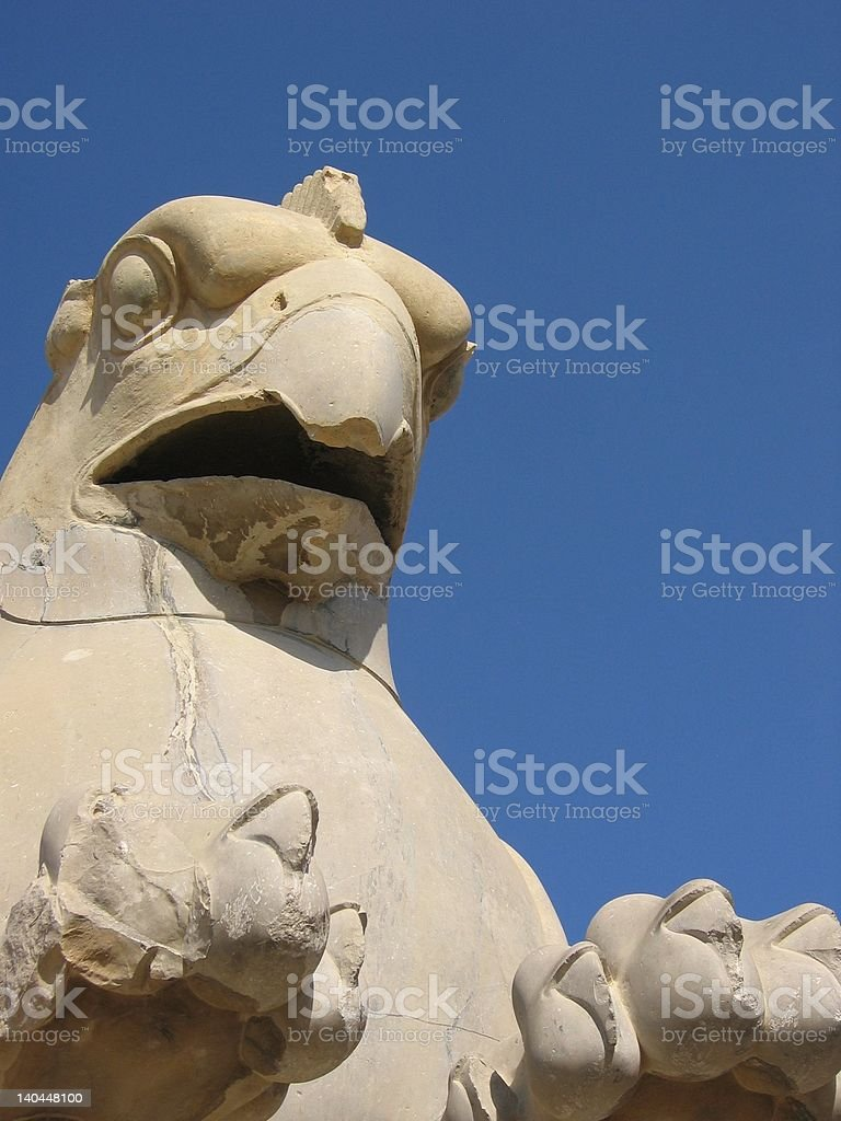 Griffin in Persepolis royalty-free stock photo